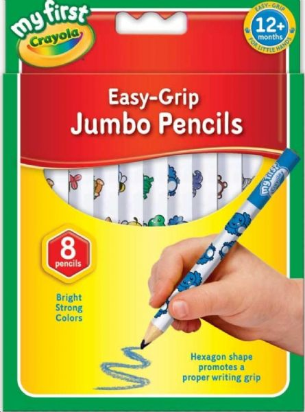 Crayola My First Jumbo Easy Grip Colouring Pencils, Pack of 8